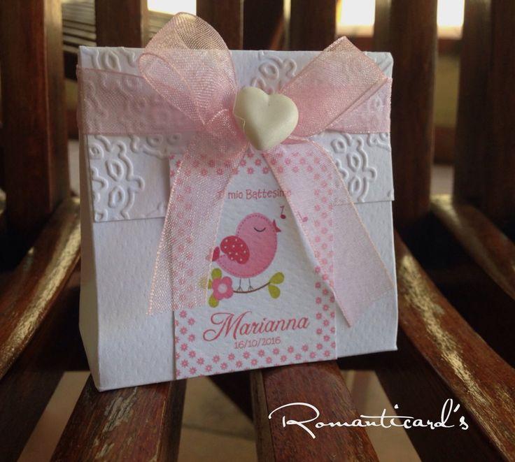 Bomboniera personalizzata con fiocco organza e cuore in fimo by Romanticards, by Romanticards e Little Rose Handmade, 1,40 € su misshobby.com
