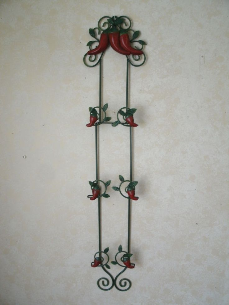 Red Chili Pepper 40 Quot Metal Plate Holder Wall Decor Holds