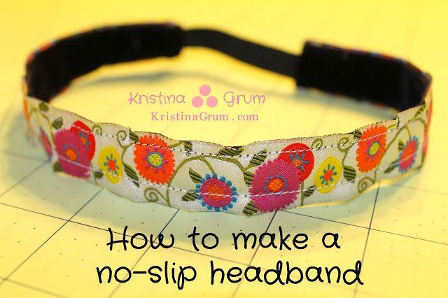 Kristina Grum at Sew Curly: Tutorial: How to make a no-slip headband