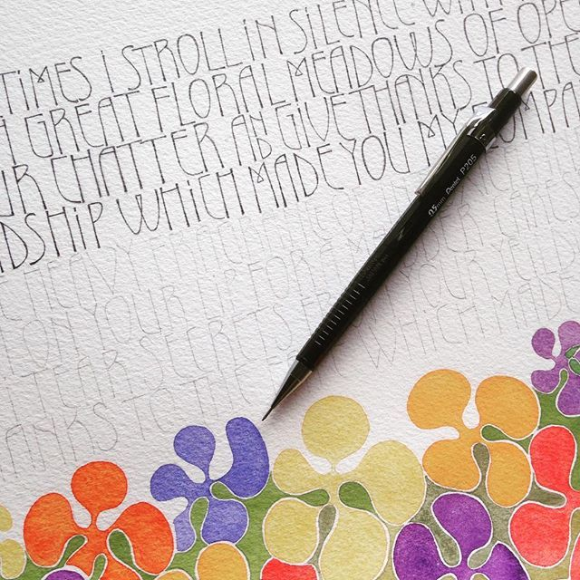96 Best Calligraphy Pencil Images On Pinterest