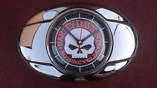 Harley Davidson motorcycle air filter cleaner cover Willie G skull wall clock