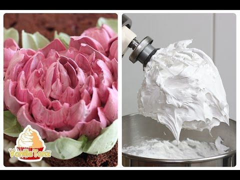 Tutorial Peony Cream Flower with Russian Tips and egg white cream - YouTube