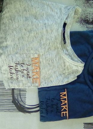 À vendre sur #vintedfrance ! http://www.vinted.fr/mode-femmes/hauts-and-t-shirts-t-shirts/27645917-t-shirt-kiabi-bleu-et-gris