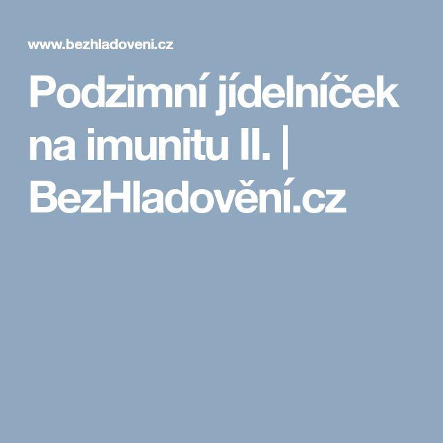 Podzimní jídelníček na imunitu II.    BezHladovění.cz