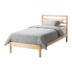 IKEA - TARVA, Bed frame, Luröy, , Made of solid wood, which is a durable and warm natural material.If you oil, wax, lacquer or stain the untreated solid wood surface it will be more durable and easy to care for.16 slats of layer-glued birch adjust to your body weight and increase the suppleness of the mattress.
