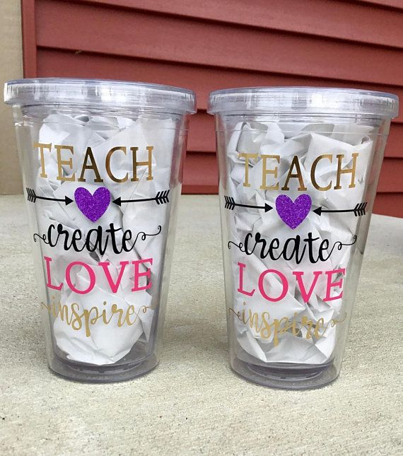 fa61583c6c7 Teacher Gift, Tumbler Cups, Teacher Tumbler Cup Gift, Teach Create ...
