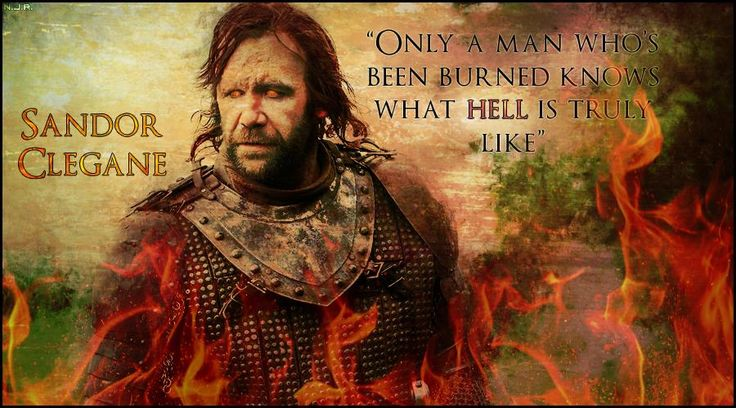 [EVERYTHING] The Hound is my all-time favorite ASOIAF character. Check out this forum signature I made!