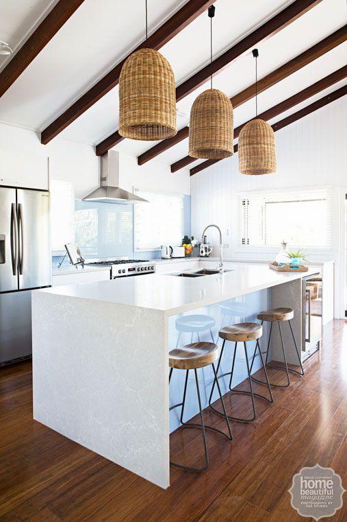 HOUSE RULES: QLD reveal - Maddi and Lloyd (minus basket lights. love the floor and splashback)