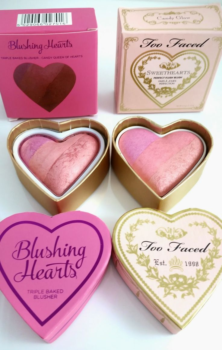 Too Faced Sweethearts Blush Dupe- Makeup Revolution Blushing Hearts. $8.23 vs. $30!  See the full review and swatches on my blog