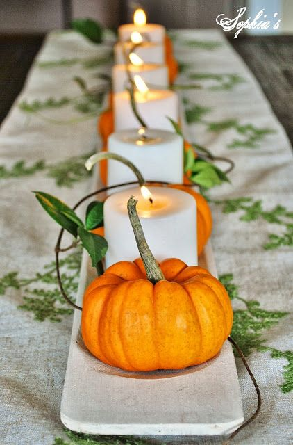 Sophia's: Fall in the Dining Room... 5 Easy Fall Centerpieces: