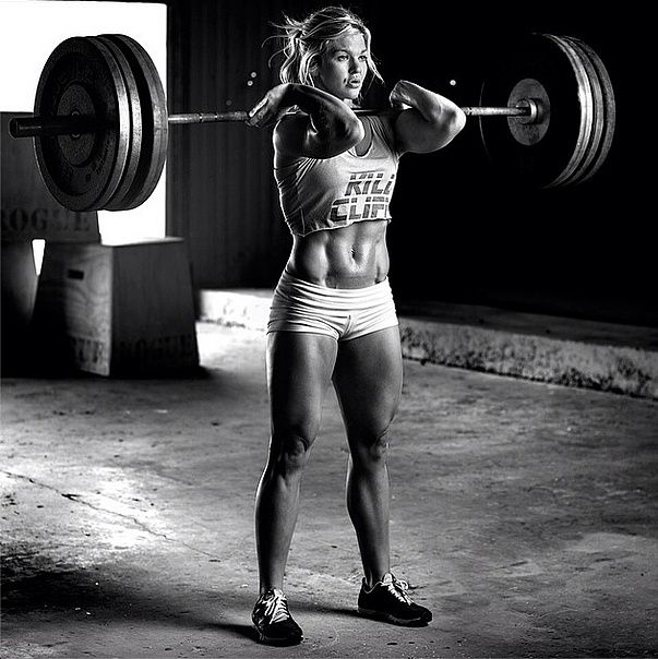 Brooke Ence -- Don't know anything about this person but she is certainly strong and obviously is physically fit!