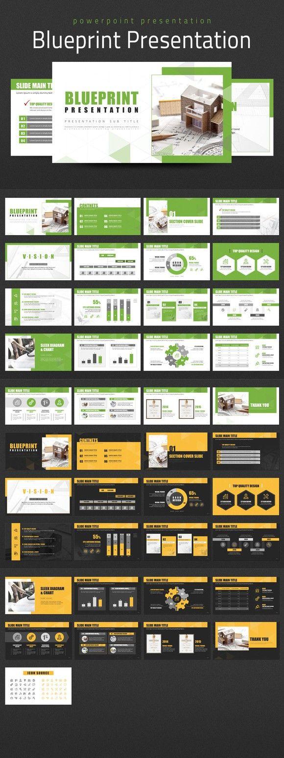 Blueprint Presentation. PowerPoint Templates. $25.00