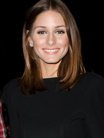 olivia palermo: perfectly shiny hair and natural makeup!