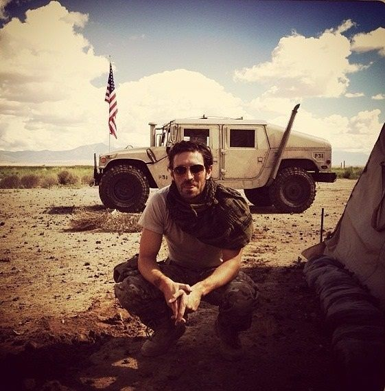 Eoin on the set of Night Shift