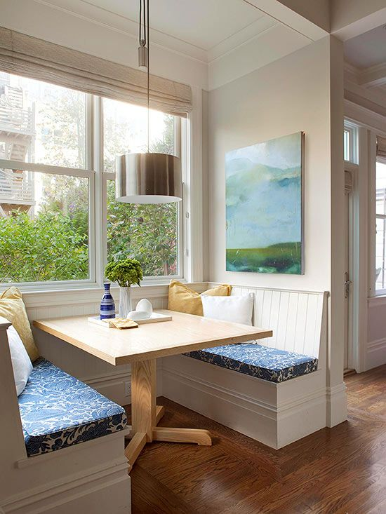 Small Space Banquette Ideas Each Bench Of This Built In Banquette Offers Space For Three