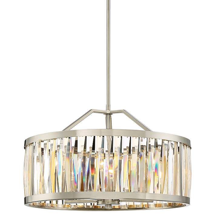Quoizel Ballet 20 1 2 W Brushed Nickel Drum Pendant Light