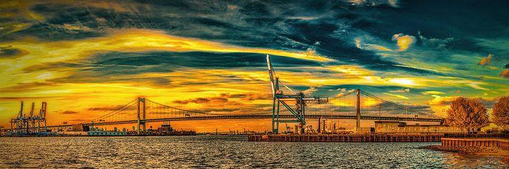 Walt Whitman Bridge Sunset