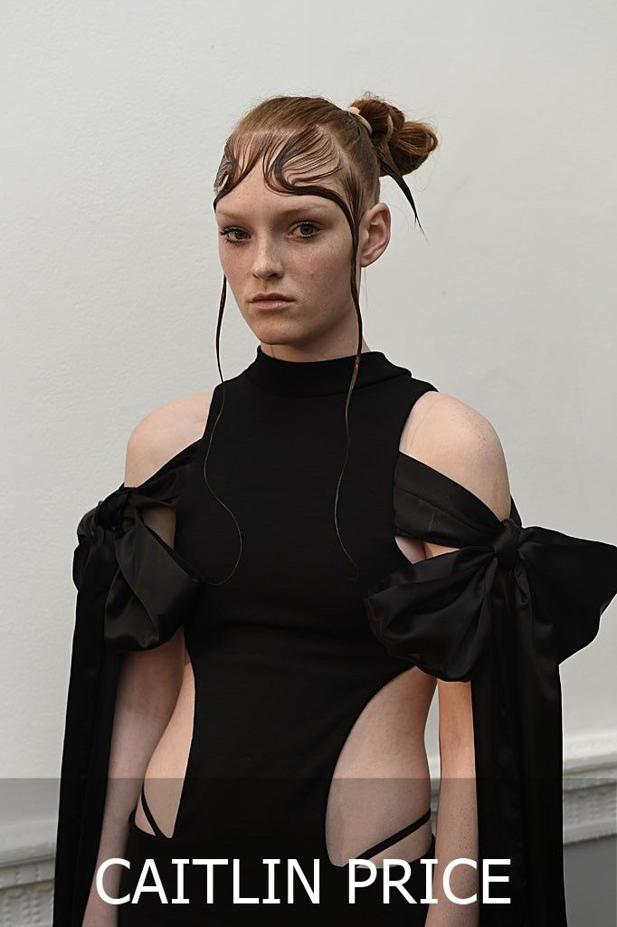 Caitlin Price graduated from the Central Saint Martins MA Fashion Womenswear course in 2013 where. She was awarded the Armani Scholarship under the late Professor Louise Wilson. photo rights: British Fashion Council