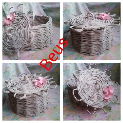 newspaper white basket cover