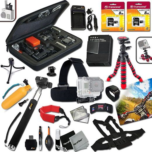 8. Xtech® Premium GOPRO Accessory Kit for GoPro HERO3 Hero 3, GoPro Hero3+ Digital Camera