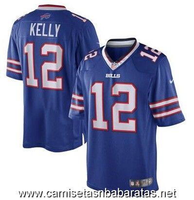 Camisetas nfl Buffalo Bills kelly #12 azul