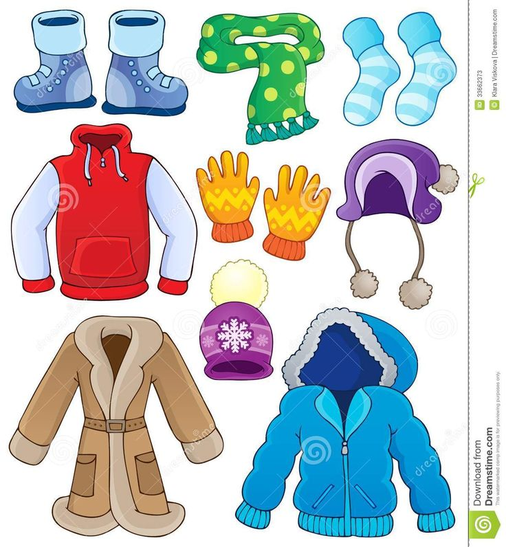 Winter Clothes Clipart - 1202x1300 - jpeg