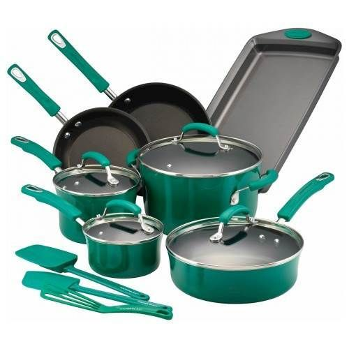 Rachael Ray - 14-Piece Cookware Set - Fennel Gradient