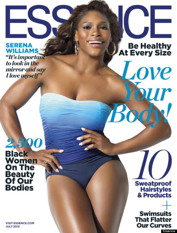 """Serena Williams, who 2 yrs ago was fighting to breathe after suffering a pulmonary embolism, fronts the issue in a beautiful blue swimsuit that highlights her famous curves & toned arms/legs. Her radiant skin & confident pose are only outshined by her gorgeous smile. In the issue, she says: """"I feel lighter, I feel healthier, & even though I'm 31—which really isn't old, but for an athlete, particularly a tennis player, it's old—I promise you, my body has never felt better. I'm strong…"""""""