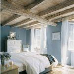 Colori pareti casa country azzurro