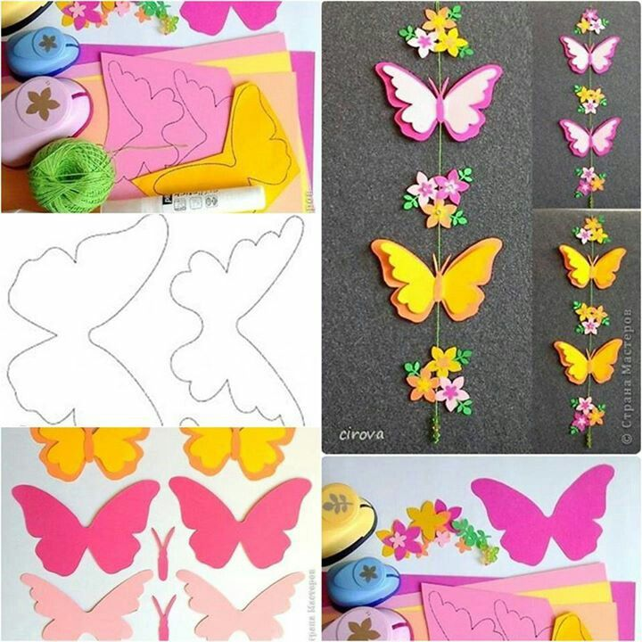Móvil de mariposas de papel tutorial http://www.usefuldiy.com/diy-paper-butterfly-mobile/