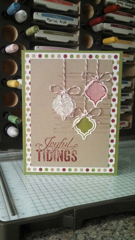 Christmas Stampin' Up! Mosaic Madness Style! Cased from a card I saw by Amy Bollman.