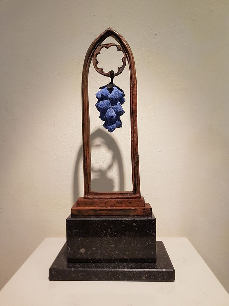 Hooglied,  bronze (patinated blue) sculpture by Jaap Hartman