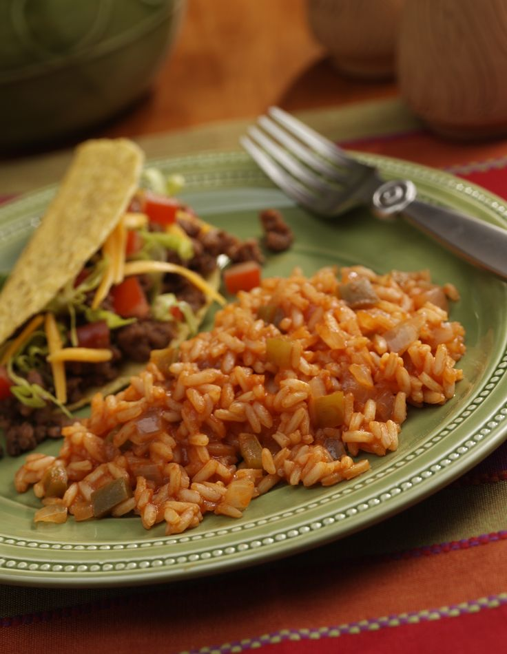 Don't forget the most important Taco side dish – the rice!