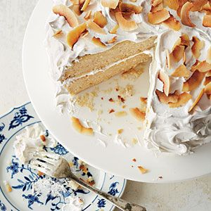 Coconut Cake Recipes | Coconut Layer Cake with Marshmallow Frosting  | MyRecipes