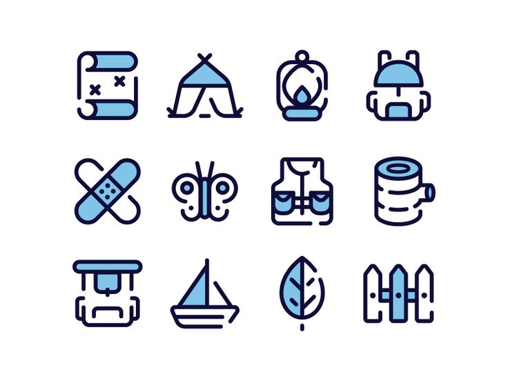 Outdoor Icons by Lavinia Lorena ✿