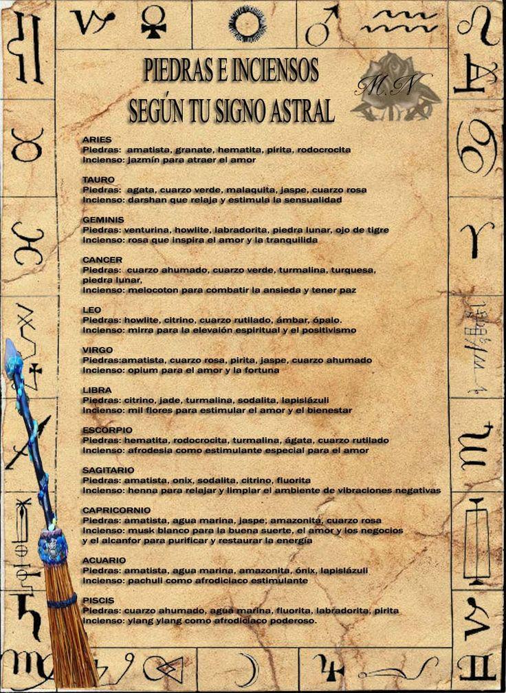 Trastos de Bruja: Piedras e Inciensos según su signo Astral