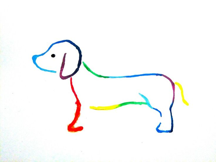 One day I was painting with my younger sister and she wanted rainbow dog