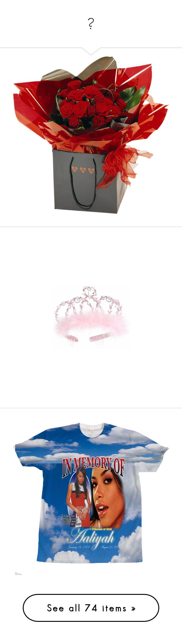 """""""💋"""" by idc-baby ❤ liked on Polyvore featuring accessories, hair accessories, pink hair accessories, silver tiara, pink tiara, silver hair accessories, tops, aaliyah, shirts and blue top"""
