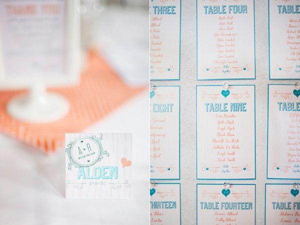 - inspiration porte nom et plan de table -