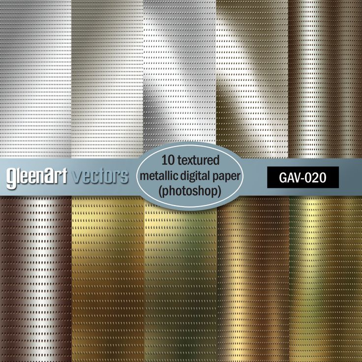 Metallic digital paper with gold / metal / bronze / copper / silver textures in metals colors INSTANT DOWNLOAD by GleenArt on Etsy