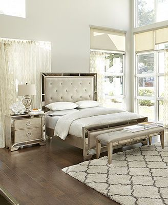 Ailey Bedroom Furniture Collection - $2799 for king bed, dresser or chest & 1 night stand