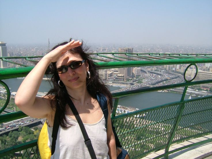 The amazing view of the city from the Tower of Caire, Egypt.
