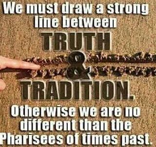 Truth vs tradition. God vs man. The Bible. #scripture