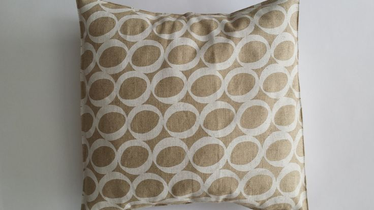 Lucky Bean Cushion Cover in Lien. by MaradadhiTextiles on Etsy