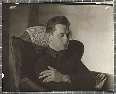 Citation: Karl Priebe, ca. 1940 / unidentified photographer. Gertrude Abercrombie papers, Archives of American Art, Smithsonian Institution.