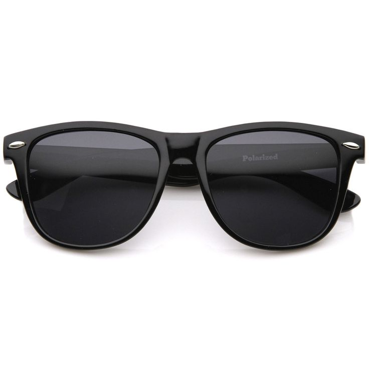 Large Oversize Classic Dark Tinted Lens Horn Rimmed Sunglasses 55mm
