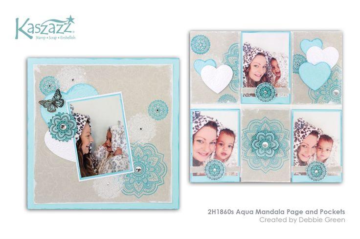 2H1860s Aqua Mandala Page and Pockets