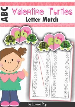 Valentine Turtles Upper and Lower Case MatchThis unit is included in my Valentine's Day MEGA BUNDLE!About this book:This unit contains an upper and lower case literacy center for use with children in Pre-K and Kindergarten (Prep),Directions for use:Print the turtle pages, laminate them for durability and then cut out each turtle pair, and then in half to separate the upper case letter from the lower case one.