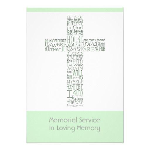 38 besten religious funeral announcement bilder auf pinterest, Einladungen