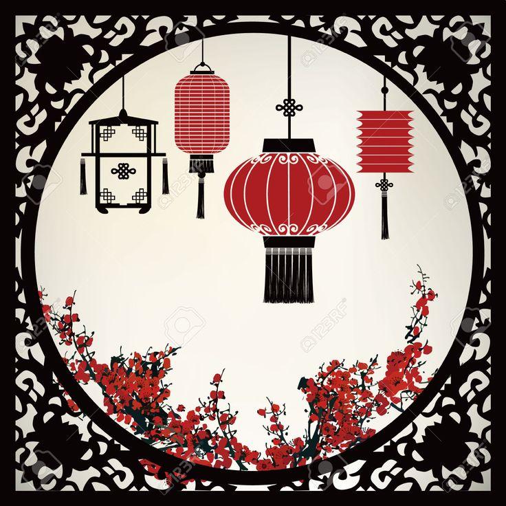 Chinesische Laterne Lizenzfrei Nutzbare Vektorgrafiken, Clip Arts, Illustrationen. Image 33149160.